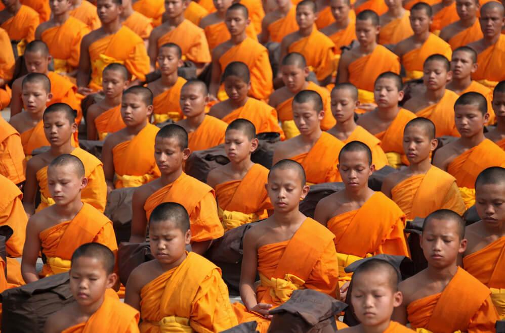 Betende Mönche